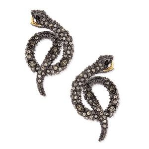 Alexis Bittar Coiled Serpent Snake Earrings